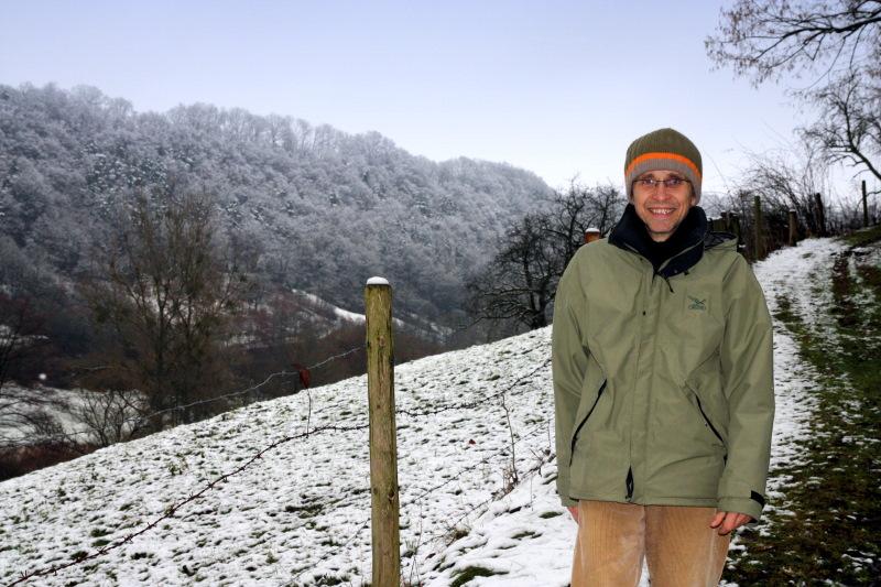Reinhard Kettner auf dem Weg oberhalb der Schleifbachklinge   - © Quelle: Hohenlohe + Schwäbisch Hall Tourismus e.V.