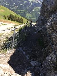Der Abstieg vom Neunerköpfle ist gut gesichert © Tourismusverband Tannheimer Tal