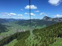 Angenehmer Aufstieg mit der Gondel © Tourismusverband Tannheimer Tal