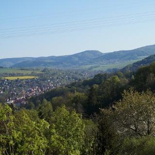 Blick über die Berge bei Schmalkalden