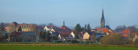 Foto Blick auf Neustadt in Sachsen.