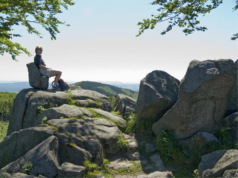 Anstieg auf den Großen Inselsberg