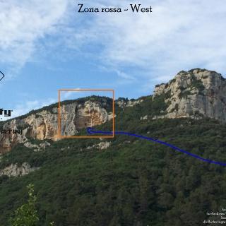 Zona rossa bei Finale - Übersichtsbild - Topo