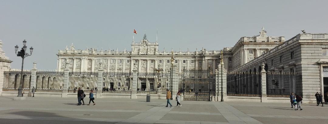 Seitenansicht des Königspalastes
