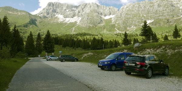 Parkplatz bei der Pecol-Alm