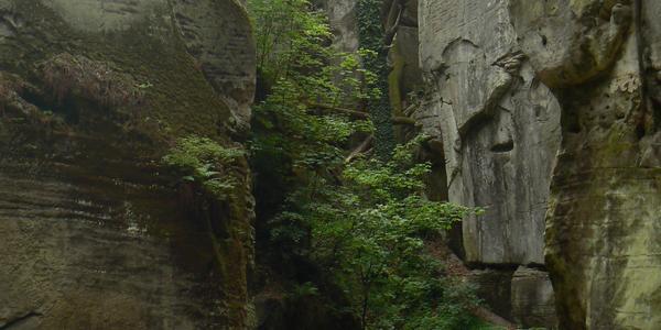 In der Felsenstadt Hrubá Skála