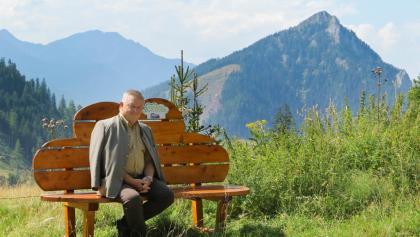 """Arzt Dr. Höfler auf seinem """"himmlischen Platz"""", dem Hasensattel"""