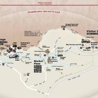 Übersichtsplan des Grand Canyon Village