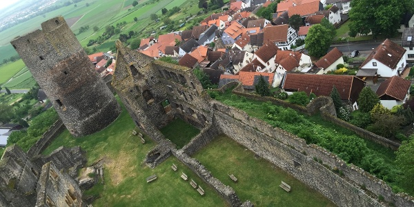 Blick über Münzenberg von der Burg aus