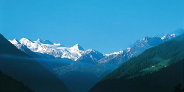 Blick auf Gletscher