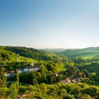 Blick von der Ruine Falkenstein