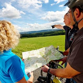 Orientierung auf dem Rhein-Mosel-Eifel-Radweg