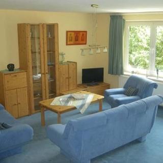 Wohnzimmer in der Ferienwohnung Gästehaus Steker