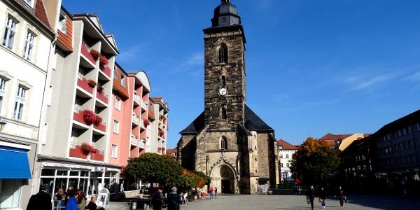 Neumarkt und Margarethenkirche - Gotha