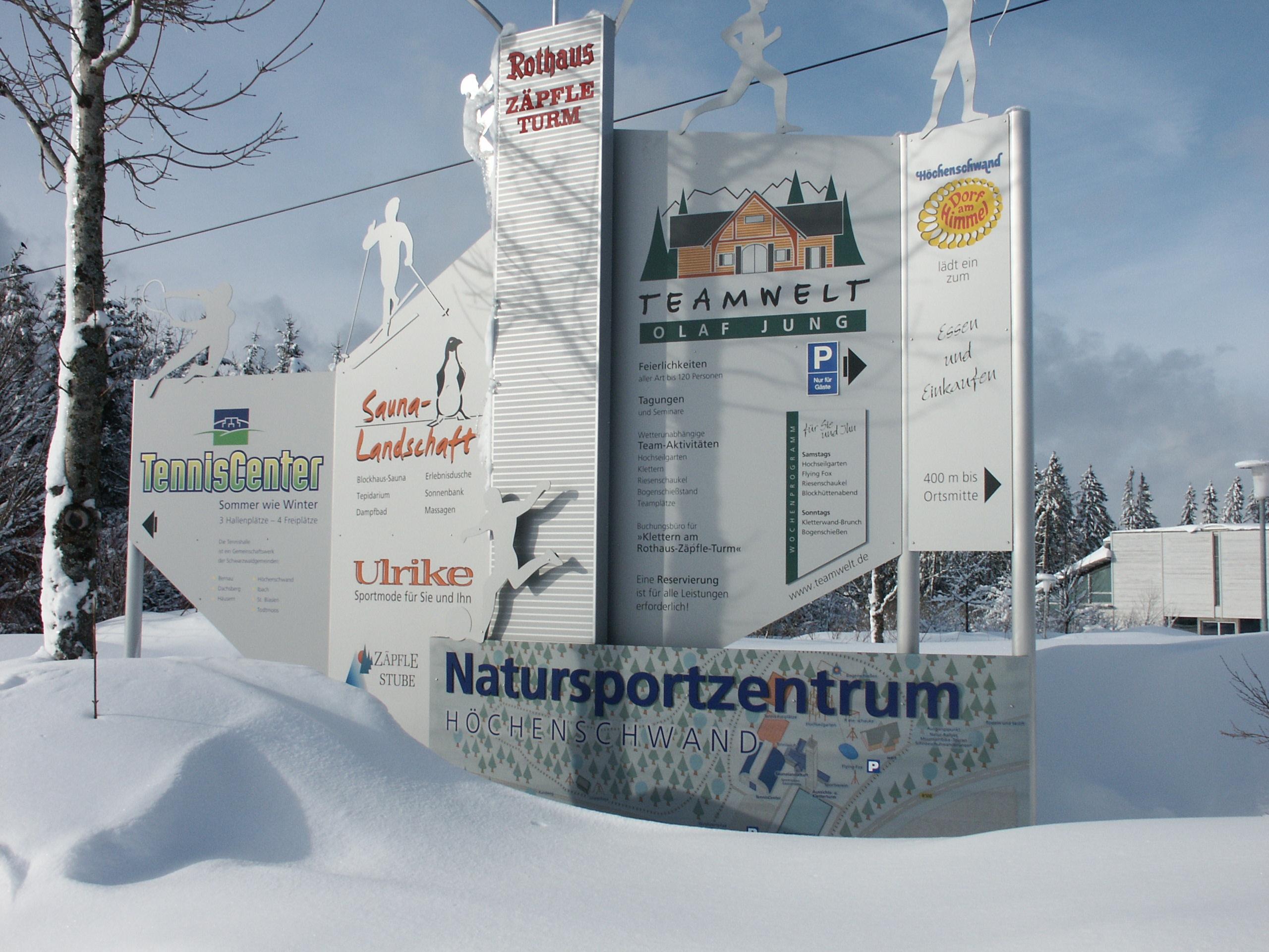 Natursportzentrum Schild Winter