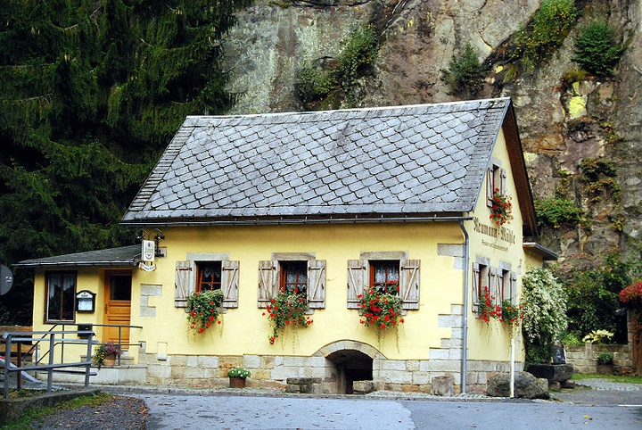 Foto Das Gasthaus Neumannmühle.