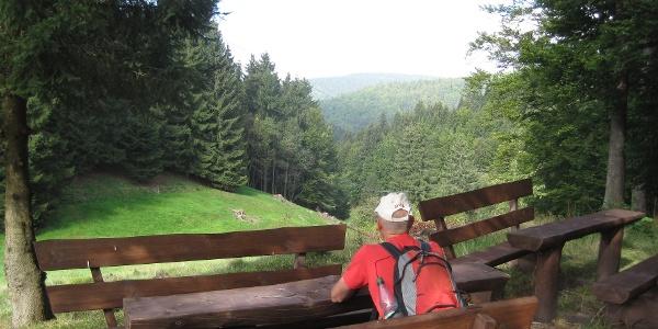 Wanderrast beim Hotel Waldfrieden