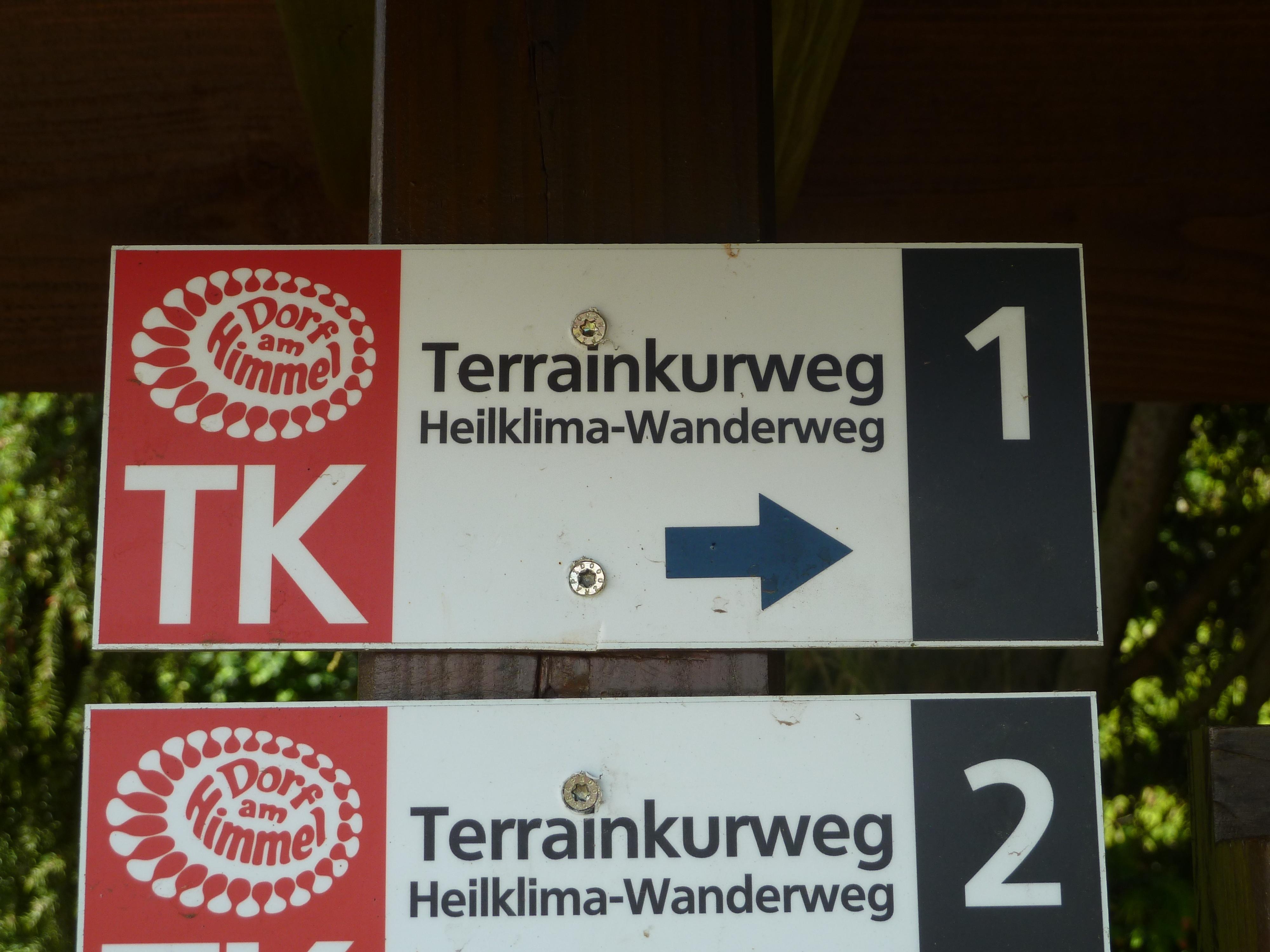 Wegbeschilderung TK 1