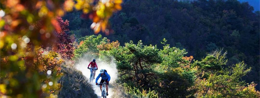 Auf flowigen Trails im Vinschgau