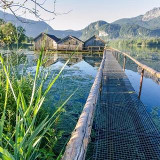 Wanderung - Loisach-Rundweg - Bootshäuser am Kochelsee