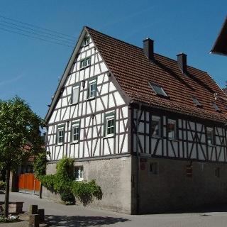 Fachwerkhaus am Marktplatz in Heiligkreuzsteinach.