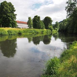 Werra am Schlosspark Meiningen