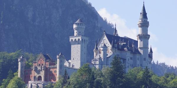 Blick auf das Schloss Neuschwanstein
