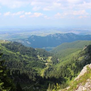 Blick auf das Voralpenland