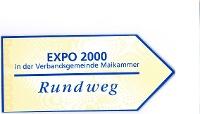EXPO-Hinweisbeschilderung