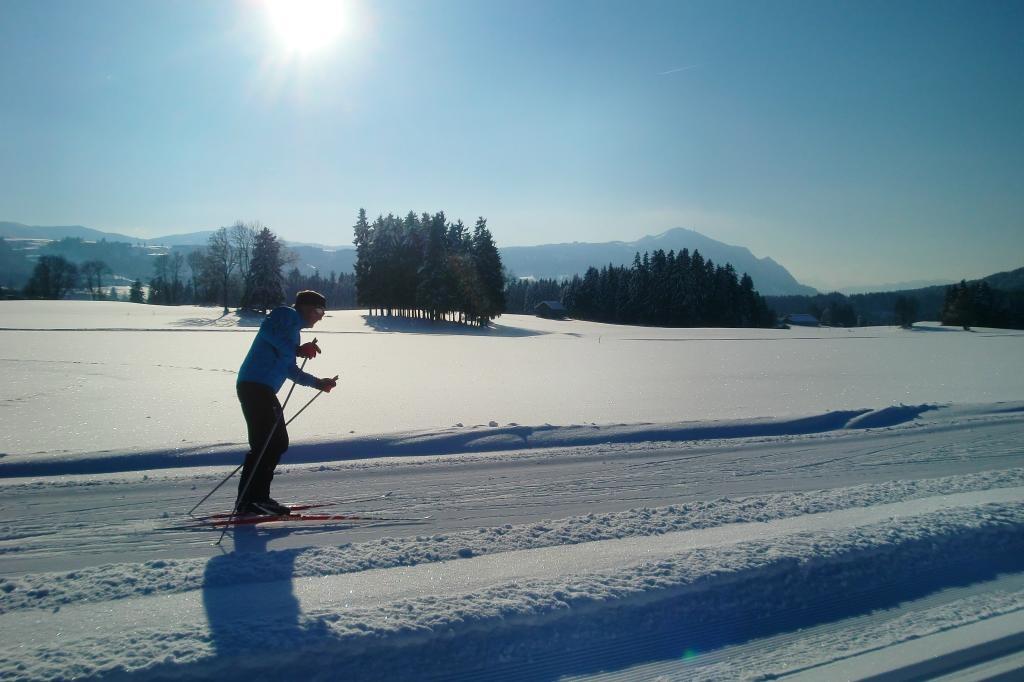 Alpenblickloipe Moosbach  - @ Autor: Melanie Schnurr  - © Quelle: Markt Sulzberg