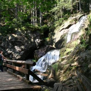 Die Rieslochfälle an der oberen Brücke