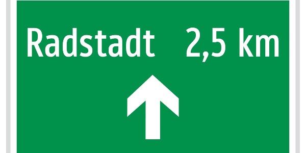 Enns-Radweg Beschilderung