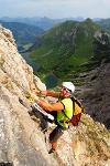 Klettersteig mit toller Aussicht  - @ Autor: TVB Tannheimer Tal  - © Quelle: Tourismusverband Tannheimer Tal