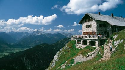 Blick zur Bad Kissinger Hütte