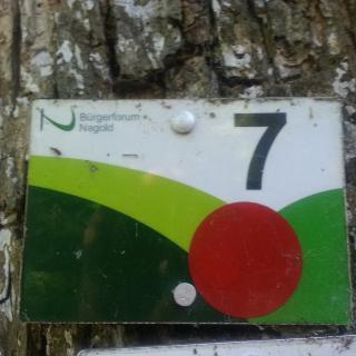 7 Berge Wegzeichen