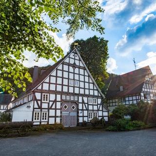 Fachwerkidyll im Ortskern von Winkhausen