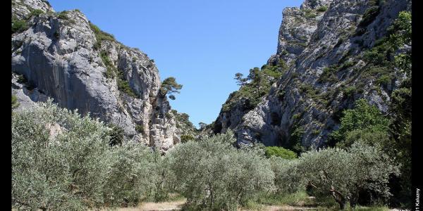 südliches Ende der Gorges de Régalon