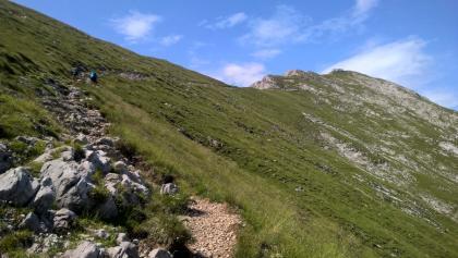 The last part of the climb towards Rifugio Brioschi