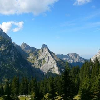 Der Blick auf den Geiselstein von Süden