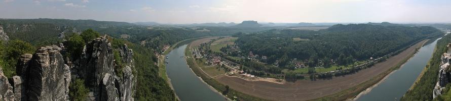 Foto Bastei und Elbe.