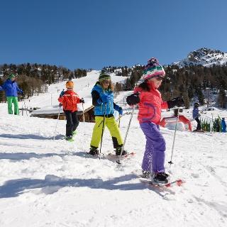Schneeschuhwandern Kinder