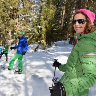 Schneeschuhlaufen in Grächen