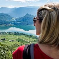 panoramic view from Castelvecchio/Altenburg to the lake Kaltern
