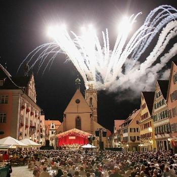 Feuerwerk in Rottenburg am Neckar