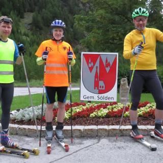 Am Start um 6:00 Uhr in Zwieselstein