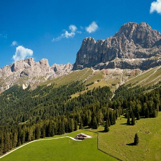 Messnerjoch hut Dolomites Nova Levante