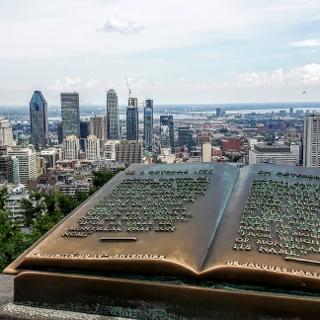 Blick auf Downtown Montréal vom Kondiaronk Belvedere