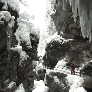 Winterlicher Anblick der Breitachklamm.