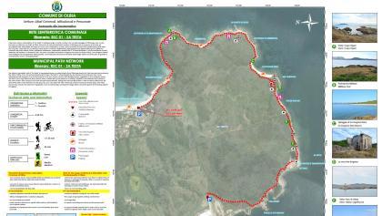 MAP OLBIA SA TESTA TRAIL