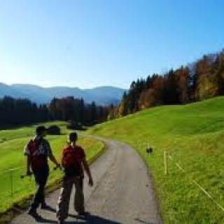 Wanderer auf der Schnepfegg